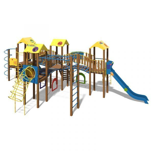 The Fortress Playground Complex T904 New (yellow and blue colors)