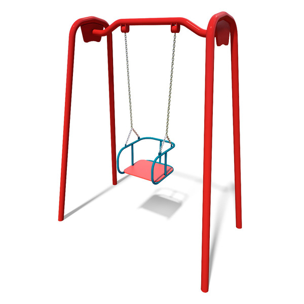 Swing single on metal pillars (with bucket seat) InterAtletika ТЕ406М