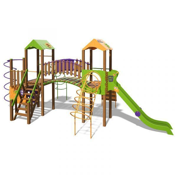 The Hut Playground Complex T902 New (orange, yellow and green)